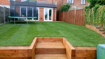 Decking and turf