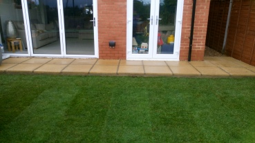 Patio with Marshalls slabs